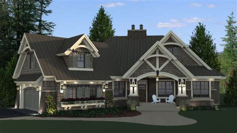 craftsman house plans with basement craftsman style house plans single with daylight