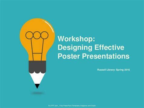 workshop designing effective poster