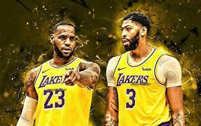 Lakers Lebron Davis Anthony James 4k Angeles