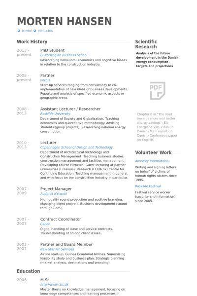 phd student resume  graphic design student cv