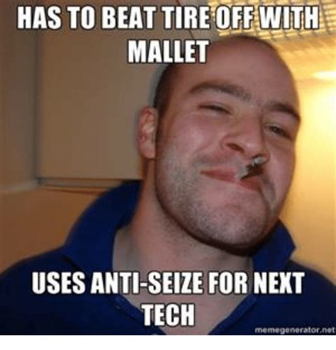 HAS TO BEAT TIREOFF WITH MALLET USES ANTI-SEIZE FOR NEXT ...