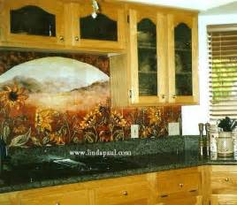 kitchen murals backsplash sunflower kitchen decor tile murals western backsplash of sunflowers