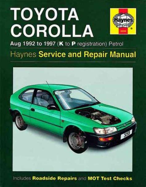 old cars and repair manuals free 1992 toyota 4runner windshield wipe control toyota corolla petrol 1992 1997 haynes service repair manual sagin workshop car manuals repair