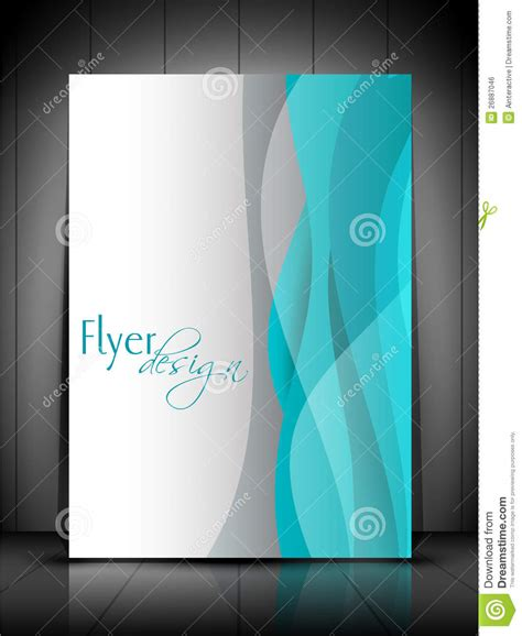 professional business flyer template stock vector image