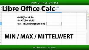 Excel Prozentualen Anteil Berechnen : min minimum max maximum und mittelwert mit libreoffice calc toptorials ~ Themetempest.com Abrechnung