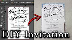 how to create an invitation in illustrator from start to With diy wedding invitations illustrator