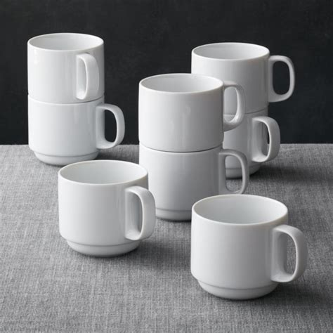 Set Of 8 Logan Stacking Mugs Crate And Barrel Interiors Inside Ideas Interiors design about Everything [magnanprojects.com]