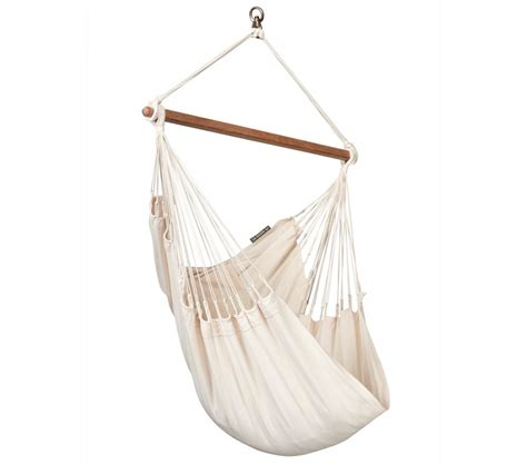 chaise hamac suspendu chaise hamac basic bio colombienne modesta écru la siesta