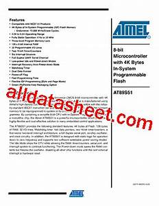 At89s51 Microcontroller Datasheet Pdf
