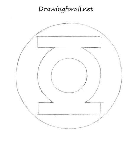 draw green lantern logo drawingforallnet