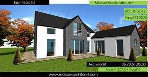 esprit bois maison ossature bois demi ronde constructeur With lovely type de toiture maison 1 constructeur de maison maisons vivre plus constructeur