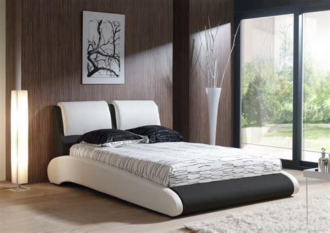chambre adulte moderne design lit adulte design en pu blanc et noir brita lit adulte