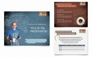 Indesign Presentation Template Free Coffee Shop Powerpoint Presentation Template Design