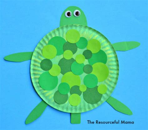 paper plate turtle craft the resourceful 789 | paper plate turtle watermark