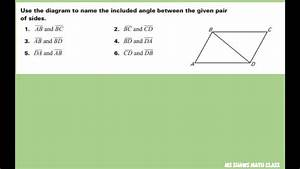 Use The Diagram To Name The Included Angle Between Given Pairs Of Sides