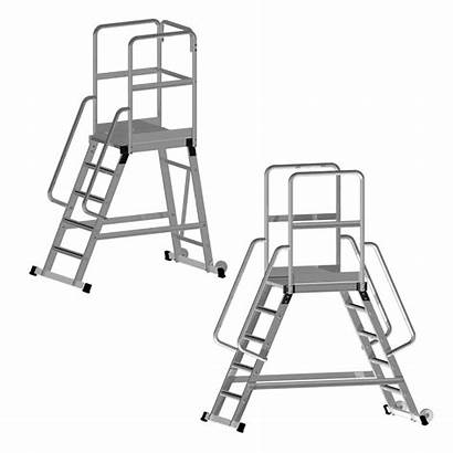 Platform Access Mobile Ladders Sided Single Double