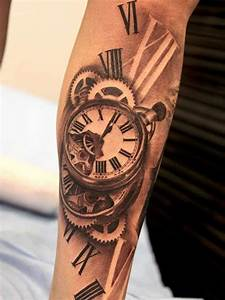 Tatouage Horloge Dessin : tatouage en 3d tattoo 3d bras tatouage homme tatouage tattoos time tattoos et tattoo ~ Melissatoandfro.com Idées de Décoration