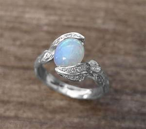 opal engagement ring opal leaves ring opal ring gold With opal wedding rings
