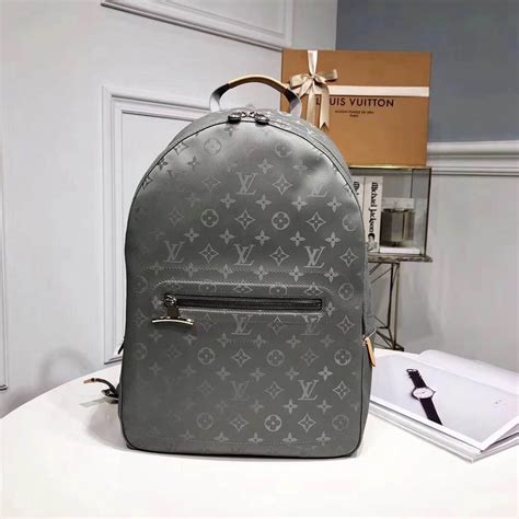 louis vuitton backpack pm   monogram titanium