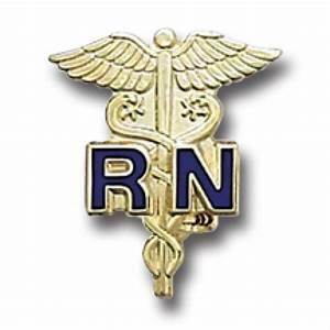 RN Blue Gold Caduceus Registered Nurse Medical Emblem ...