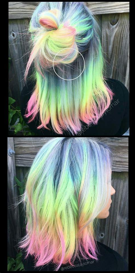 Pastel Rainbow Hair Rebeccataylorhair Crazy Hair Color