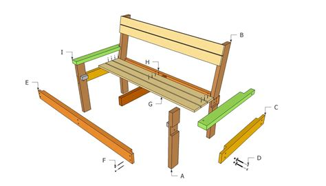 park bench plans  outdoor plans diy shed wooden playhouse bbq woodworking projects