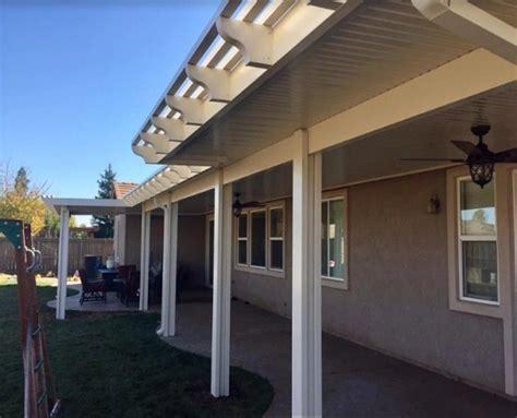 flatpan attached patio cover with ends sacramento ca