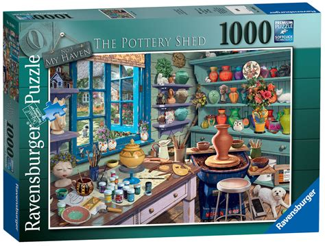 19698 Ravensburger My Haven No3 The Pottery Shed Jigsaw