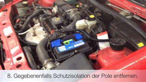 autobatterie ford tausch der starterbatterie ford 4te generation
