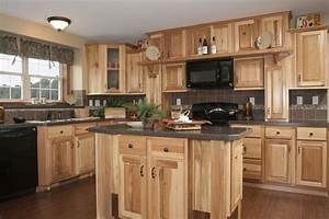 Rustic hickory kitchen cabinets – solid wood kitchen