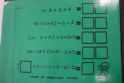 1000 images about school math order of operations on