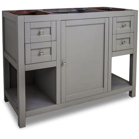 48 inch vanity cabinet only jeffrey alexander van103 48 grey astoria modern collection