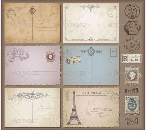 Vintage Postcard Template Photoshop Wallpaper 35 Best Vintage Postcard Design Templates For