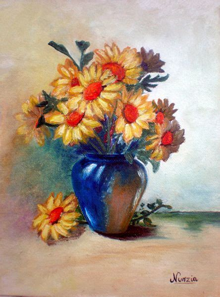 margherite in vaso vaso di margherite opera d arte di nunzia