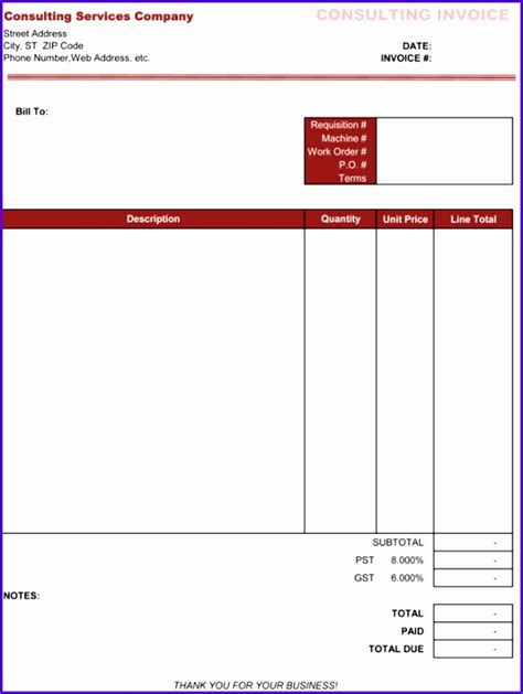 b consulting template 10 consulting invoice template excel exceltemplates