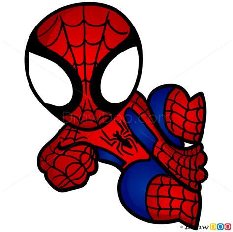 draw spider man chibi