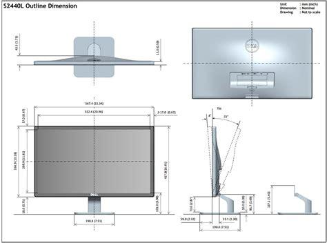 desk depth for 24 monitor dell s2440l review tft central