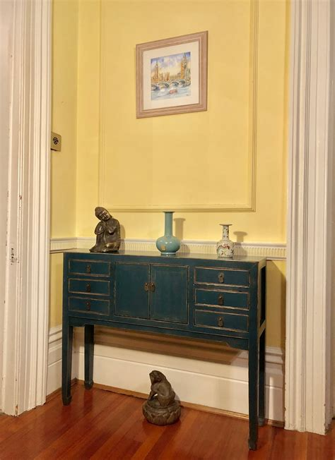 baoshi dark blue  drawer console table nookdeco