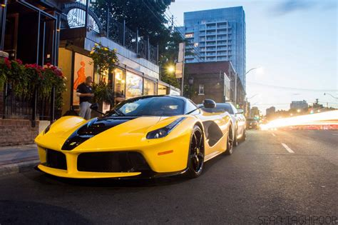 Unique 'black N Yellow' Laferrari From Toronto Gtspirit