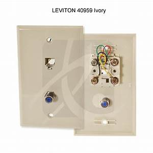 Leviton Tv  Phone Combination Jack  U0026 Wall Plate