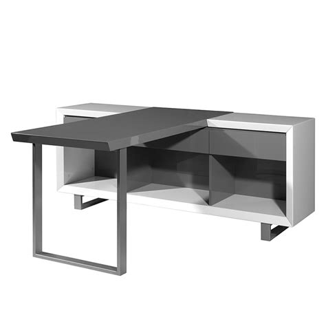 Schreibtisch Weiß Mit Regal by Schreibtisch Center Mit Regal Wei 223 Grau Home24