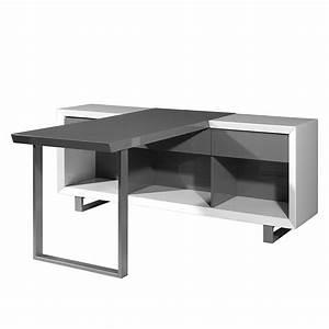 Schreibtisch Mit Regal : schreibtisch center mit regal wei grau home24 ~ Whattoseeinmadrid.com Haus und Dekorationen
