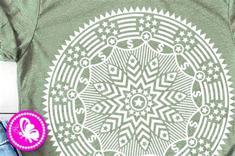 The image is placed on an a4 sheet with the dimensions of 8.5 x 11 inches. Mandala Independence day svg 4th of july zentangle USA ...