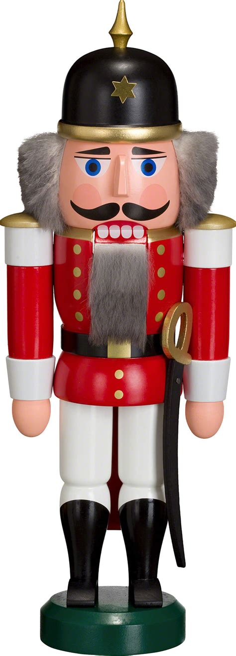 nutcracker soldier red 27cm 11in by seiffener volkskunst