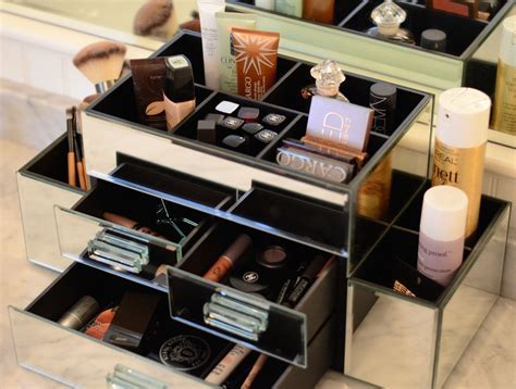see through makeup desk how to organize beauty products storage for hair products
