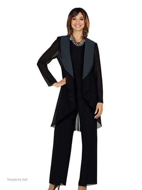 Pictures Of Women's Pant Suits With Fur  Misty Lane 13481
