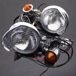 Motorcycle Turn Signal Fog Light Bar Driving Spot For