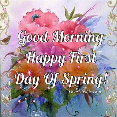 Spring Morning Happy Quotes Hello Flowers Gifs