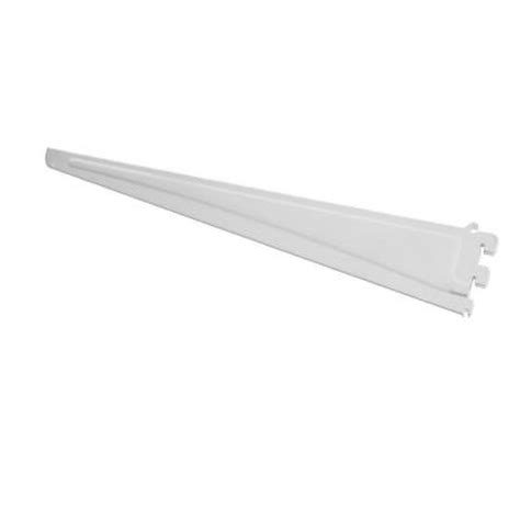 closetmaid shelftrack bracket closetmaid shelftrack 12 in x 5 in white bracket