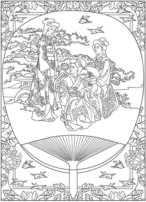 coloring page coloring life  japan tradition